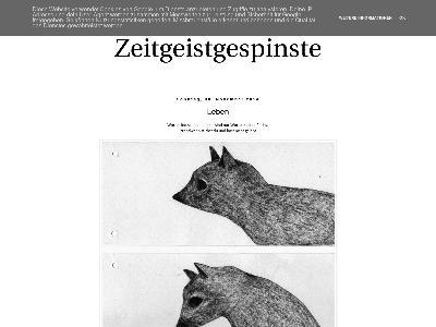 http://zeitgeistgespinste.blogspot.com/