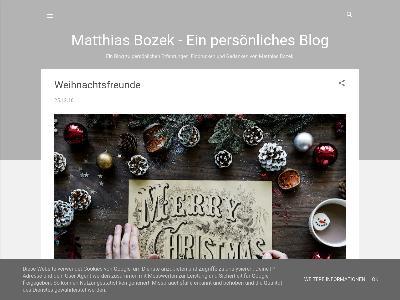 http://matthiasbozek.blogspot.com/