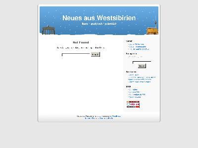 http://neues-aus-westsibirien.de